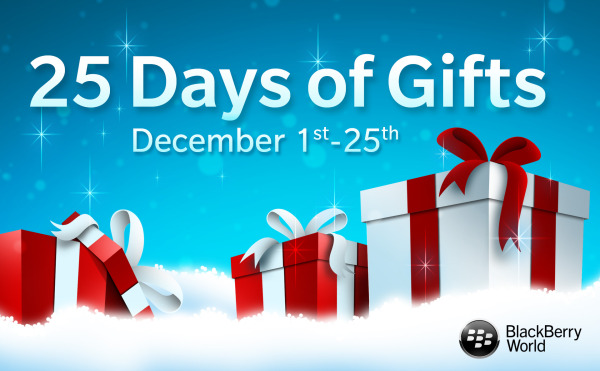 BlackBerry announces 'BlackBerry World 25 Days of Gifts 2013′