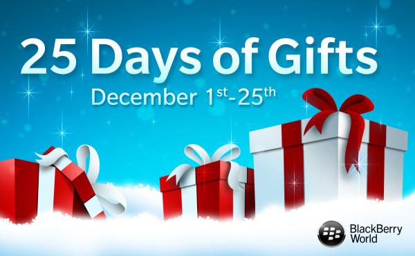 BlackBerry announces 'BlackBerry World 25 Days of Gifts 2013′
