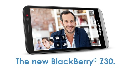 BlackBerry Z30 arriving to Verizon Wireless on November 14th for $199
