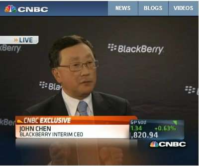 BlackBerry CEO John Chen Speaks With CNBC About The Future Of The Company