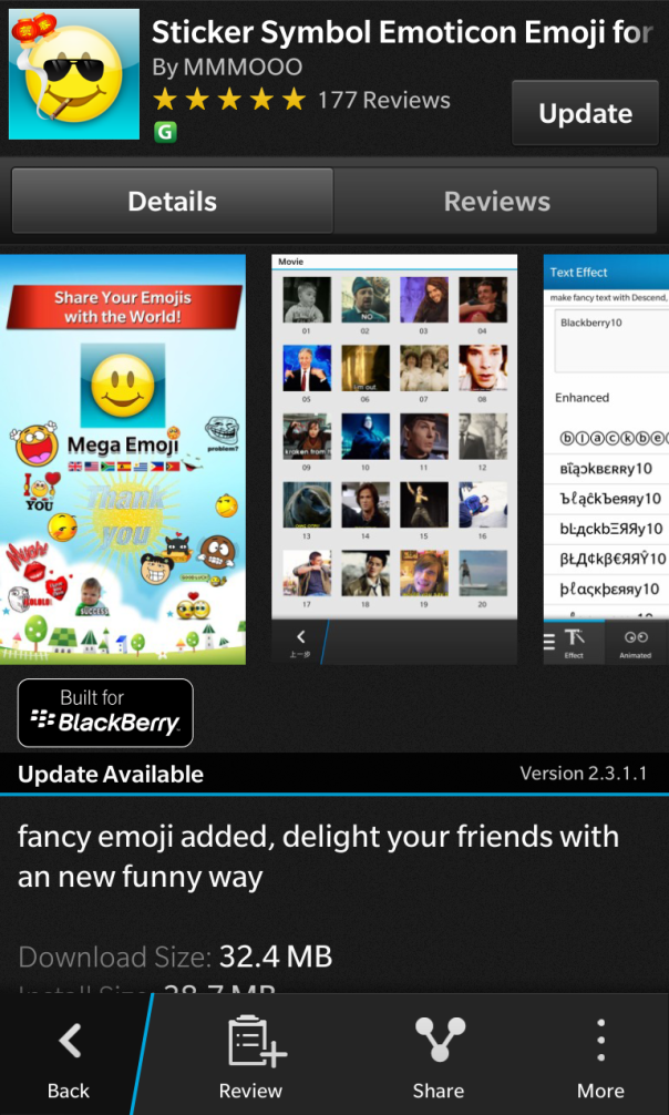 Sticker Symbol Built for BlackBerry updated to v2.3.1.1