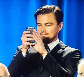 SPOTTED: Leonardo DiCaprio Caught Rocking His BlackBerry Q10!