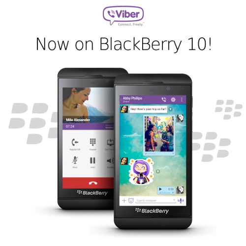 Viber launched for BlackBerry 10
