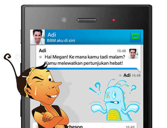 BBM on BlackBerry Z3 features exclusive content for Indonesia